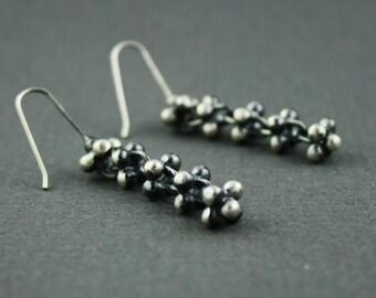 Handmade chain earrings - oxidized dangle earrings - industrial style - kinetic earrings