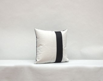 Recycled Sail Nautical Pillow - Black Number One (1)