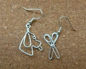 RESERVED!!!  dog  EARRINGS for GROOMER wire work