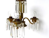 Portable Antique Crystal Chandelier with Chain Cord
