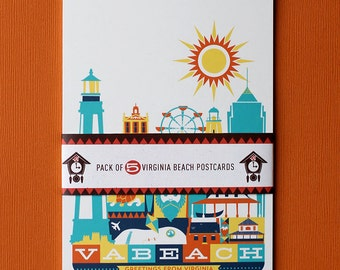 Virginia Beach Postcards - Pack of 5