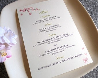 100 Cherry Blossoms Menu Cards