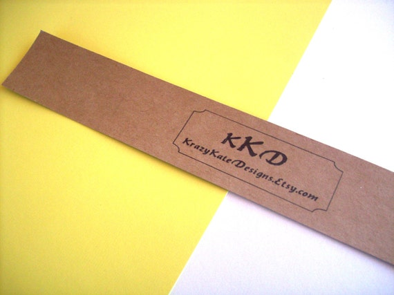 """Personalized - 25 card stock belly band, soap bands, product bands 1 1/2 x 11 """""""