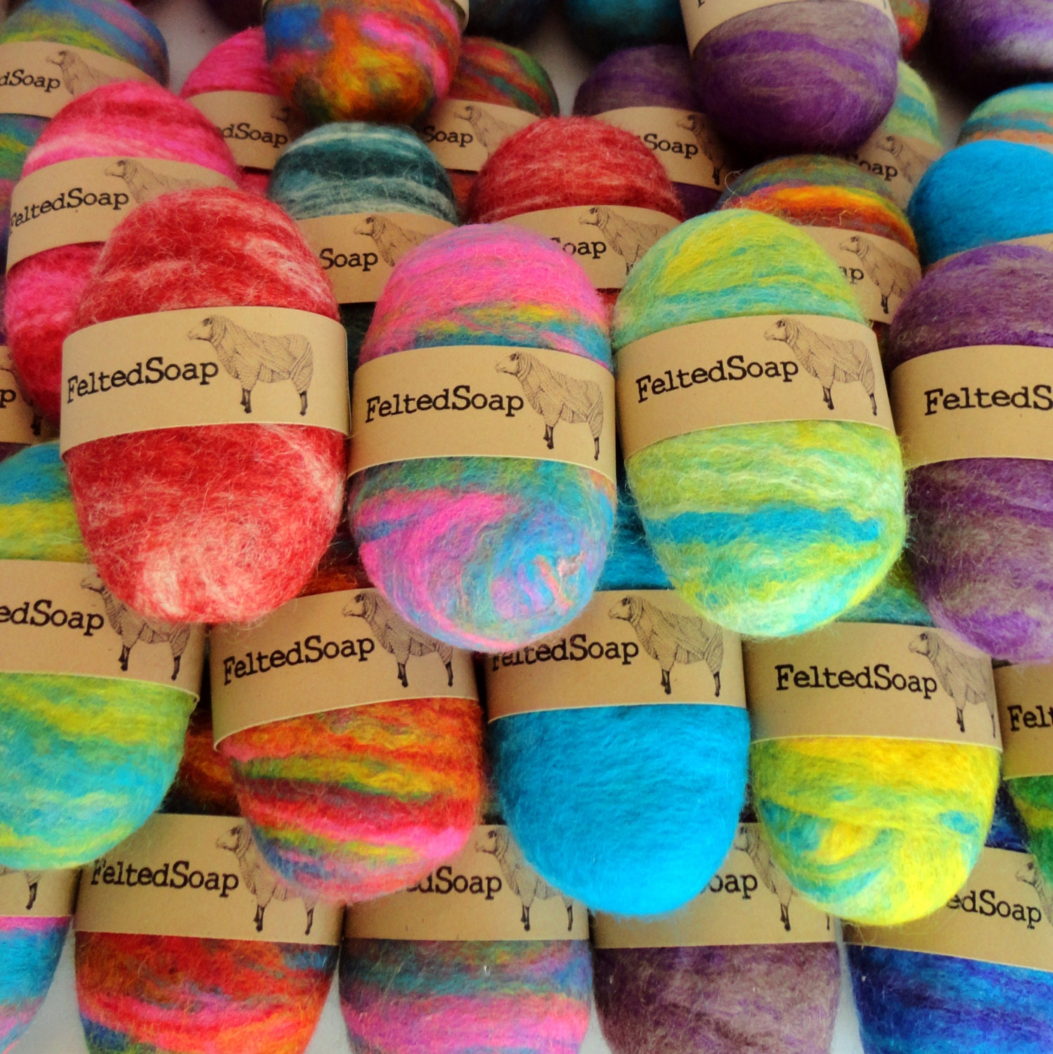50 Felted Soap Bars Unique Gift In Bulk Wholesale Resell
