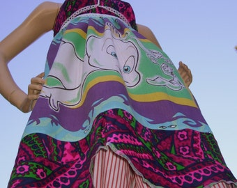 Casper Ghost Dress OOAK Upcycled Convertable Geek Sundress Adult M L XL Plus Size