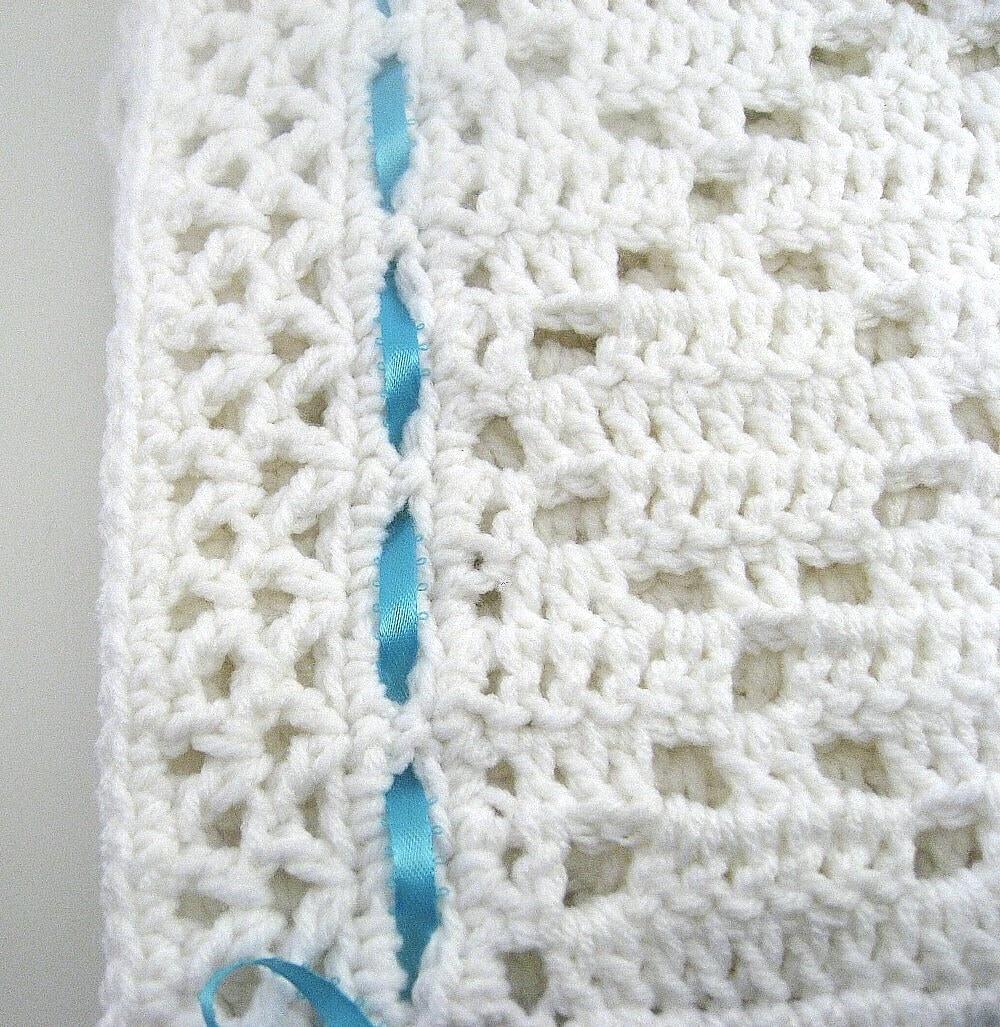 Crochet Baby Blanket Diamond Pattern : PDF Pattern Crocheted Baby Afghan DIAMOND LACE Baby Afghan