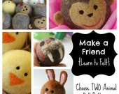 Waldorf Wool Ball Animal Patterns (Set of TWO) : Choose TWO PDFs, learn to Felt and SAVE