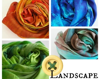 "Waldorf Playsilks: Landscape Builder Set (4 x 35"" Hand Dyed Play Silk Toys)"