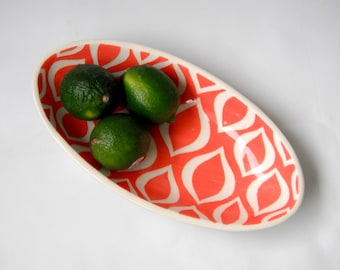Oval dish - coral-made to order