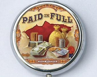 Paid in Full PILL CASE pillbox pill holder hipster cash