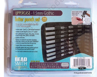 1.5mm UPPERCASE GOTHIC Alphabet Letter Punch Stamp Set Metal Stamping