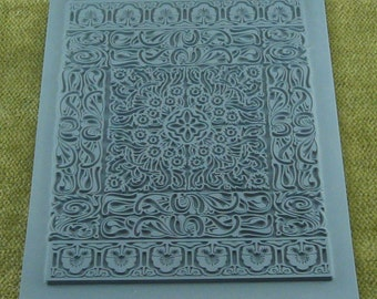 PERSIAN RUG Lisa Pavelka Intricate Carpet Rubber Stamp  for Clay, Ink, Resin