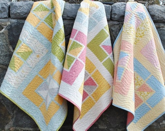 Baby Quilt Pattern, ....Quick and Easy, Fat Quarters, Walking on Sunshine