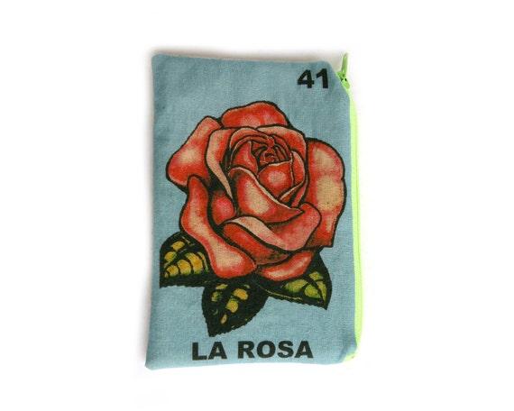 LA ROSA Mexican Loteria Coin Pouch