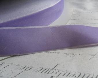 7/8 inch  Violet Velvet Ribbon