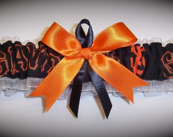 San Francisco Giants Wedding Garter  Handmade  Toss  Bridal ob1