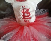 Cardinals Logo Bodysuit T-shirt Tutu Embroidered Newborn to 5T Baseball St. Louis STL Blues FREE PERSONALIZATION