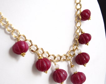 Ruby Lantern Gold-filled Neckalce