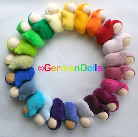 custom made, Waldorf dolls, germandolls small Pocket Baby, Steiner toy, handmade mini cloth baby, pocket size