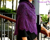 Princess and The Pea Knitting Shawl Pattern in PDF