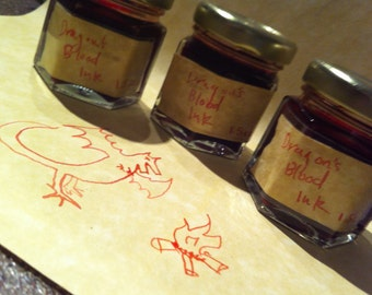 Dragons Blood Ink, Pen and Paper Kit 1.5 oz
