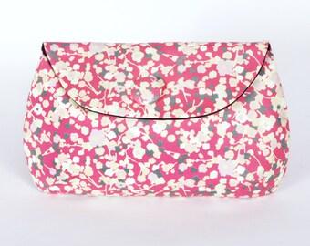 Pink blossom clutch purse