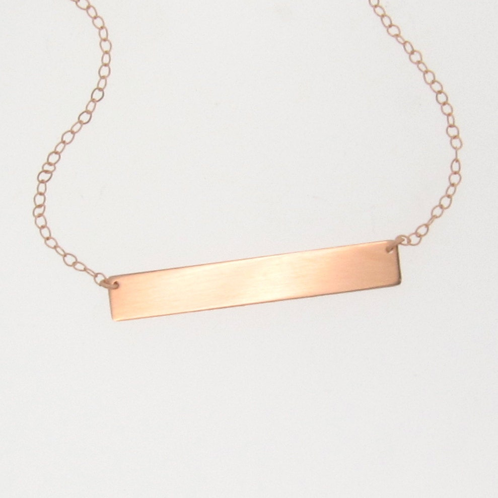 gold bar nameplate necklace 14k gold name plate as