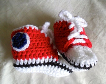 Made to Order Converse Style High Top Baby Booties - 0-12 months - You Tell Me the Color