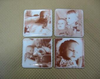 Photo fused coasters