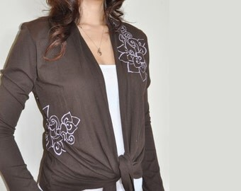 Tattoo inspired Lotus Wrap Brown ( M and L Only )