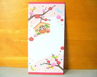 Kawaii Japanese Envelopes Plum Blossoms