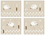 Sheep Lamb Art Prints for Kids Nursery Crib Childrens Sheep Bedding