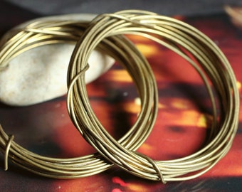 Hand antiqued oxidized solid brass wire 18g thick, 10 ft (item ID HMABW18G)