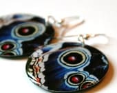 Butterfly Wing Large Resin Earrings