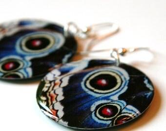 Butterfly Wing Large Resin Earrings