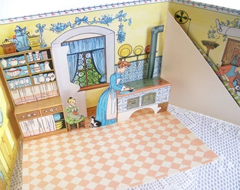 "Pop-Up Book ""The Doll's House"" Reproduction of Lothar Meggendorfer Illustrations 1978"