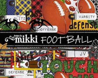 Digital Scrapbook Kit- Football