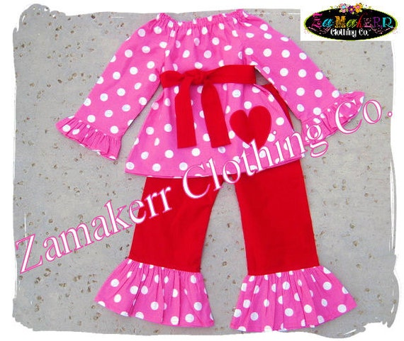 Items similar to Custom Boutique Clothing Girl Valentines