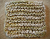 green/yellow/cream cotton dish sponge