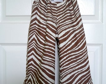 Will fit size 8Yr - READY to MAIL - Samurai PANTS - Zebra - Will fit size 8yr - by Boutique Mia