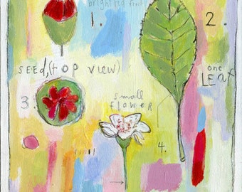 POSTER PRINT- seed & bloom