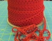Red Loop Braid  - 5 Yards For 6.00 Dollars