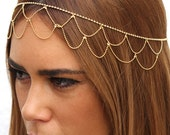 Wedding 24k gold plated accessory, Hair jewelry, Head accessory for Bridesmaids