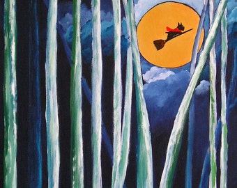 Scottie Dog Folk Art PRINT of Todd Young painting FLYING SCOTSMANN