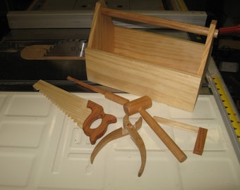 Kids' Toy Tool Box and Tools