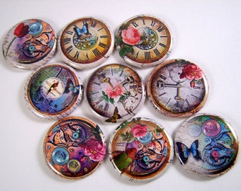 "1"" Flat Back Button, Gathering Time Collection, 12 Count"