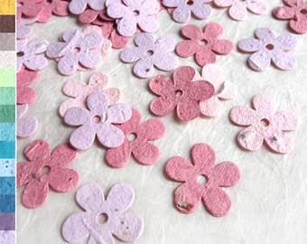 100 Plantable Daisy Confetti - Wedding Favor Plantable Paper Flower Seed Daisy Confetti