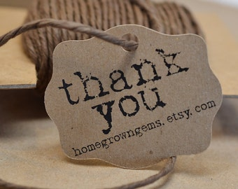 Rustic Typewriter Font Gift Tags Thank You Tags Hang Tag Price Tag  DS020