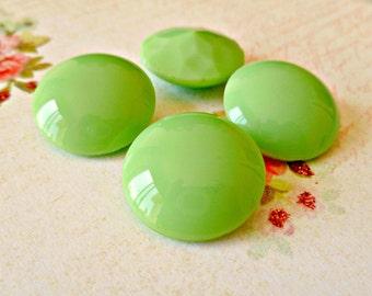 Glass Vintage 20mm Jadeite Green Round Jewels (49-10B-2)