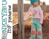Tabby Ruche Patch Pants PDF eBook Pattern INSTANT DOWNLOAD